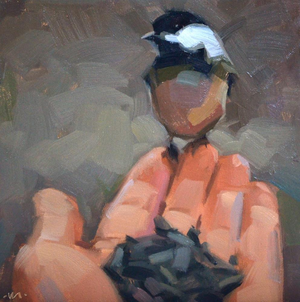 """Cautious Chickadee"" original fine art by Carol Marine"