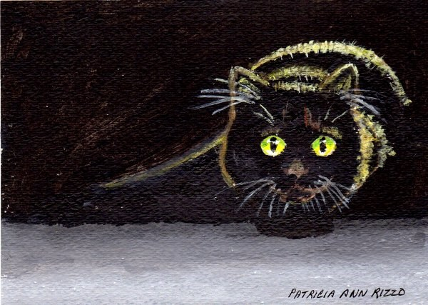 """Midnight Stalking"" original fine art by Patricia Ann Rizzo"