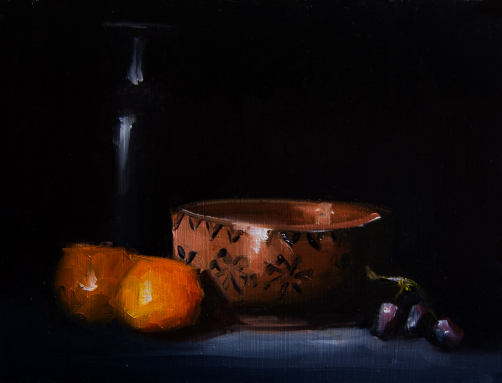 """Bowl and Vase"" original fine art by Neil Carroll"