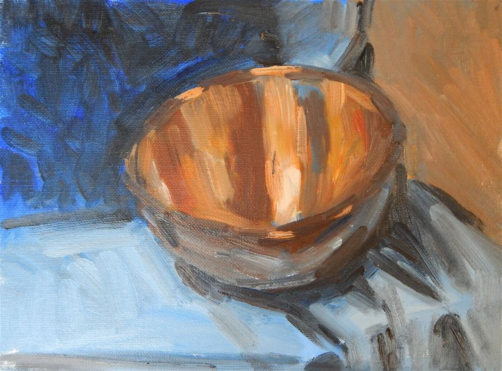 """Quick Study -Copper Bowl"" original fine art by Megan Schembre"