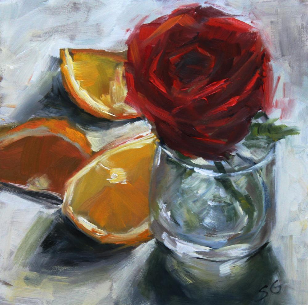 """Deep Rose"" original fine art by Susan Galick"