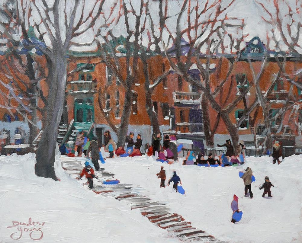 """1069 Parc LaFontaine, 8x10, oil on board"" original fine art by Darlene Young"