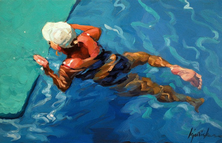"""Going Swimmingly"" original fine art by Karin Jurick"