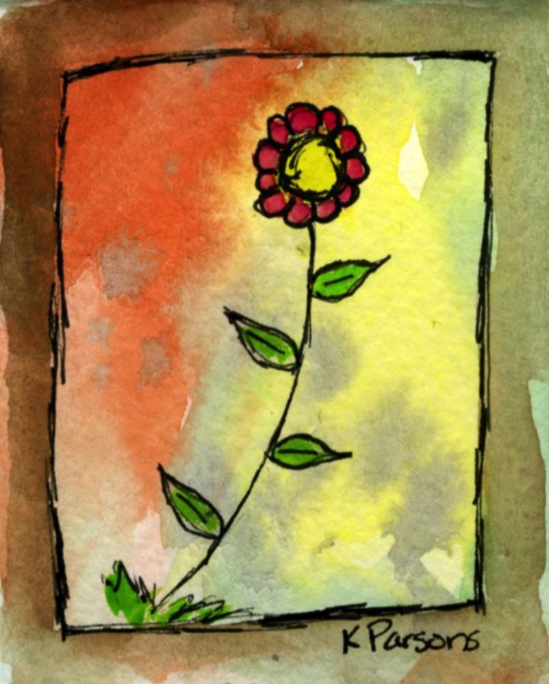 """Flower in a Storm"" original fine art by Kali Parsons"