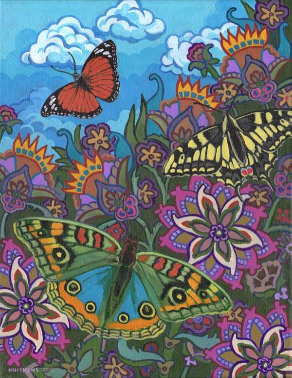 """""""Butterflies No. 3"""" original fine art by Randal Huiskens"""