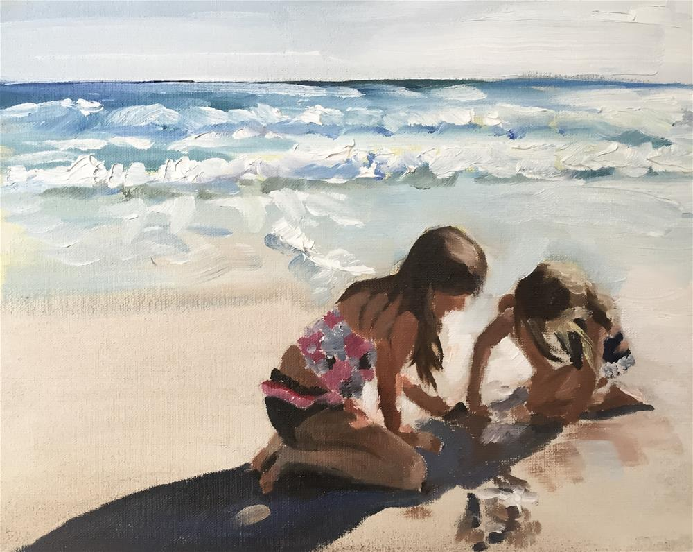 """Beach Girls"" original fine art by James Coates"