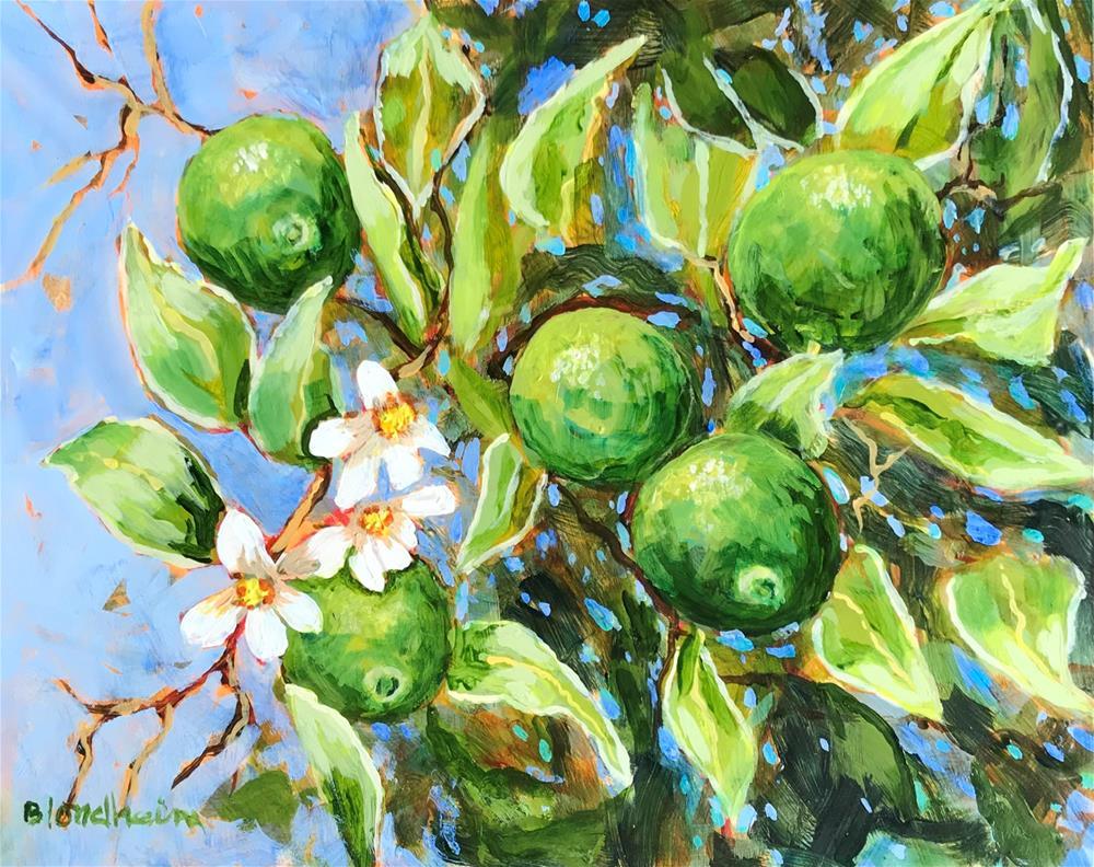 """Lime Tree"" original fine art by Linda Blondheim"