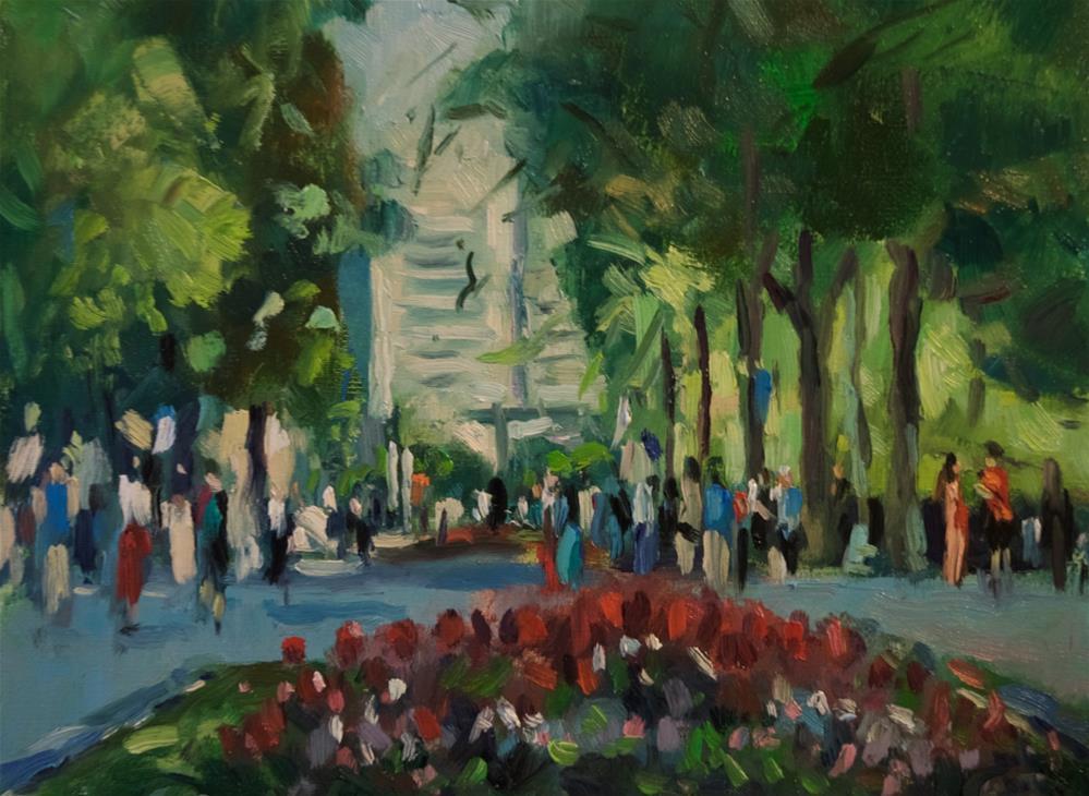 """Temple Square, Salt Lake City"" original fine art by Andre Pallat"