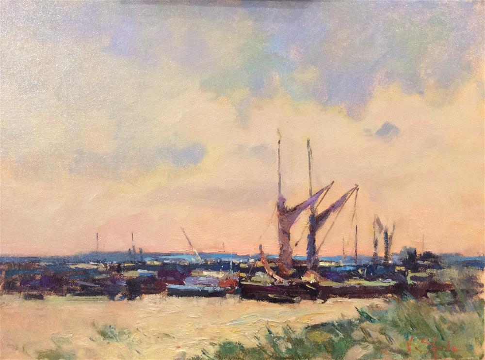 """The Boat Yard at Hooe"" original fine art by John Shave"