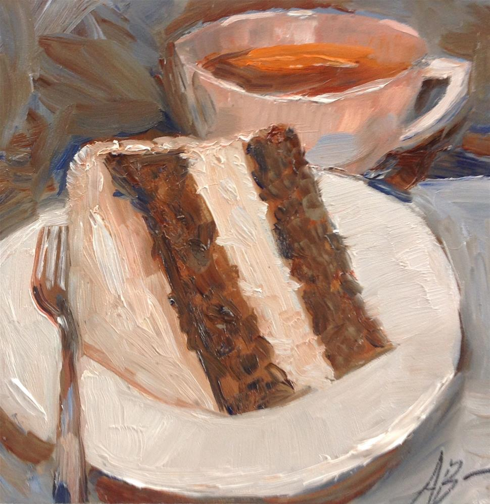 """""""Cup and Cake"""" original fine art by Annette Balesteri"""