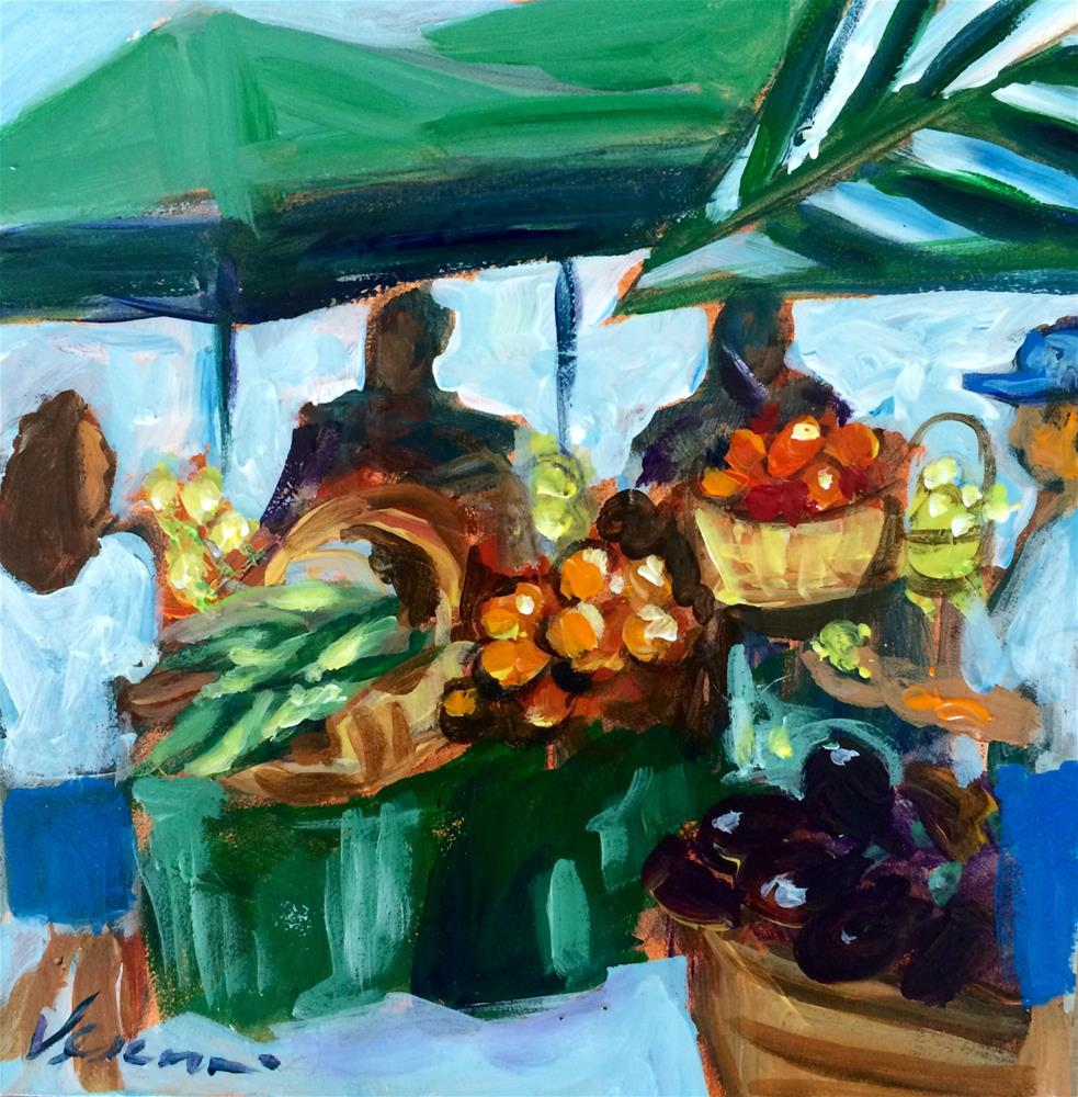 """The Fruit Stand"" original fine art by Valerie Vescovi"
