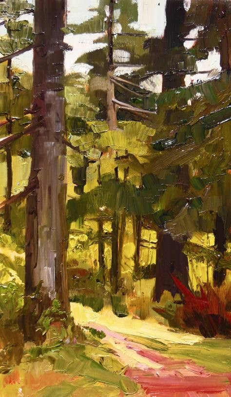 """""""Forest Trees Dosewallips State Park paint out , plein air , landscape painting by Robin Weiss"""" original fine art by Robin Weiss"""