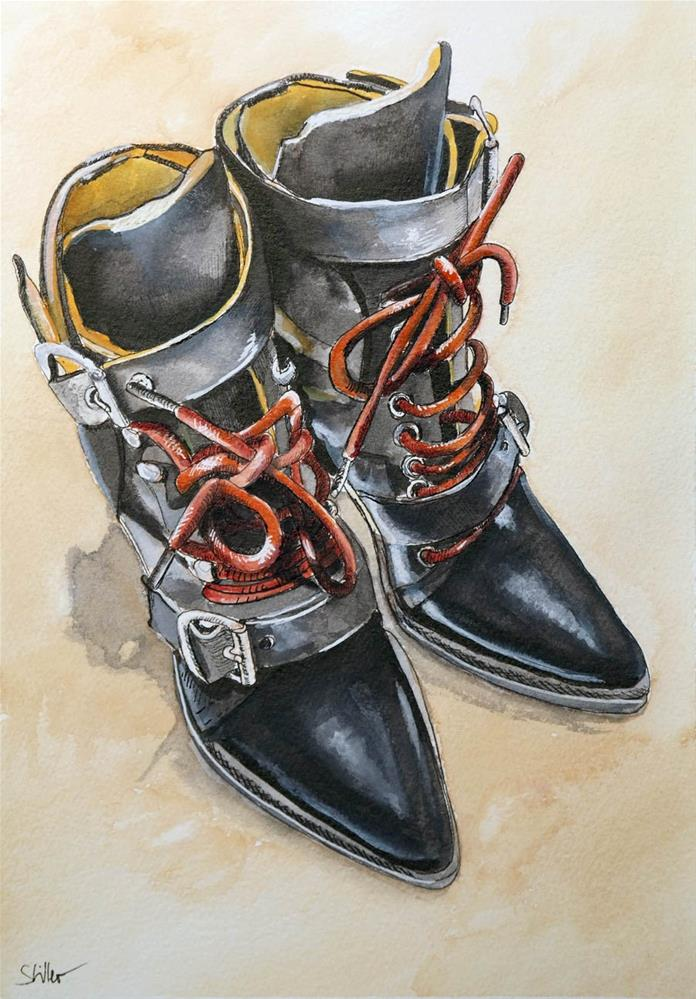 """3137 Bootees"" original fine art by Dietmar Stiller"