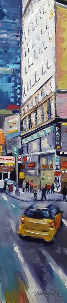 """""""I Love NY"""" original fine art by Karen Weber"""