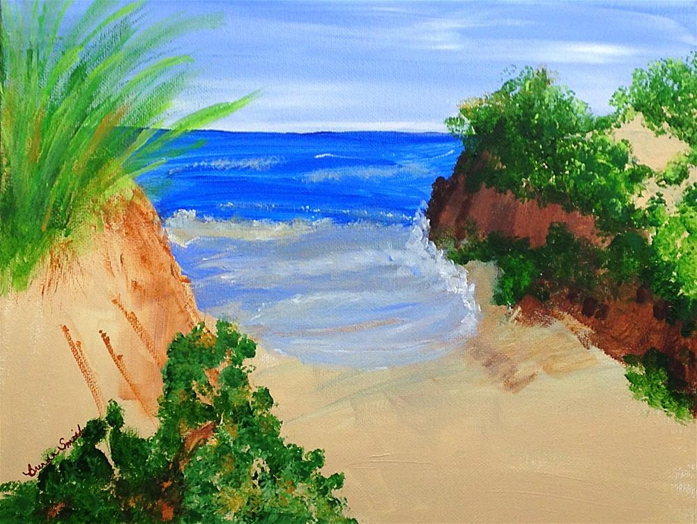 """Seclusion on the Shore"" original fine art by Brenda Smith"