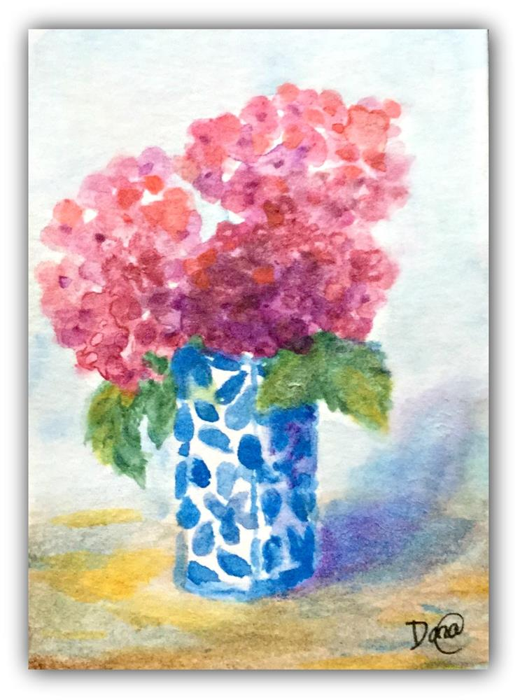 """Little Hydrangea"" original fine art by Dana C"