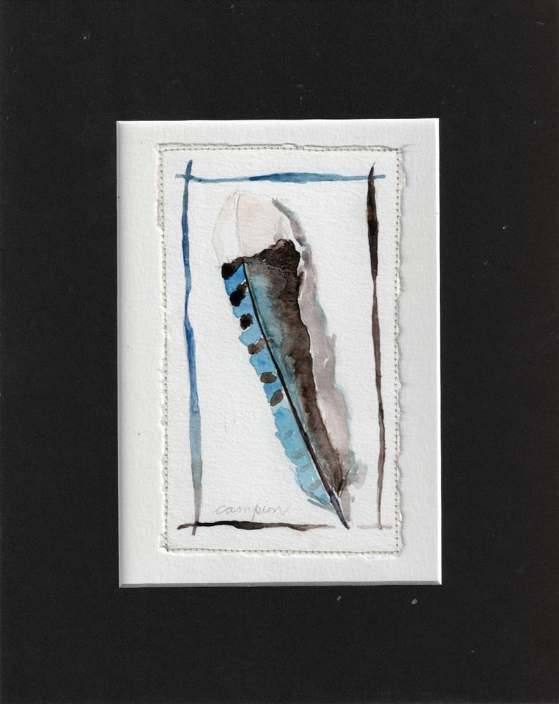 """391 Blue Feather"" original fine art by Diane Campion"