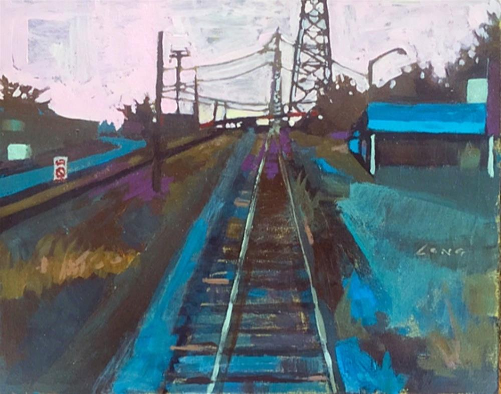 """""""Bywater Tracks"""" original fine art by Chris Long"""
