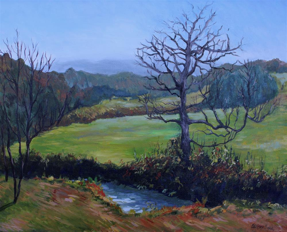 """Blue Ridge, Georgia"" original fine art by Allison Doke"