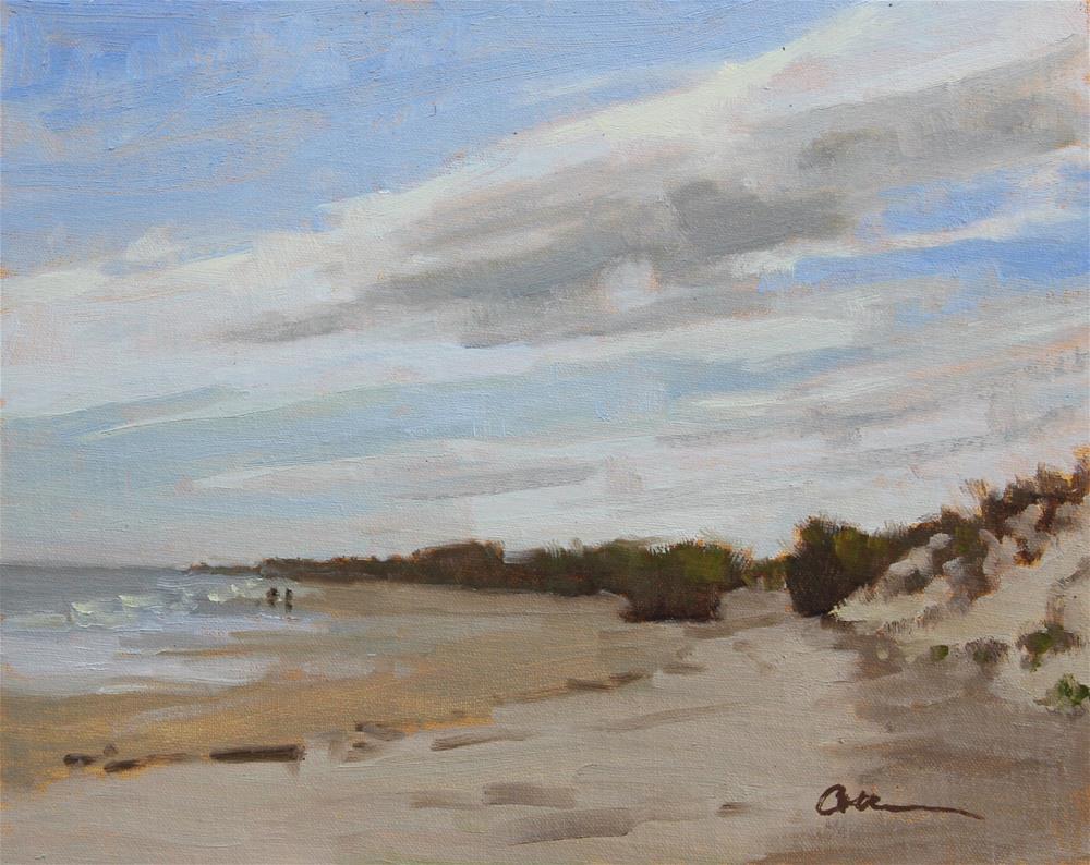 """""""Beach Stroll"""" original fine art by Colleen Parker"""