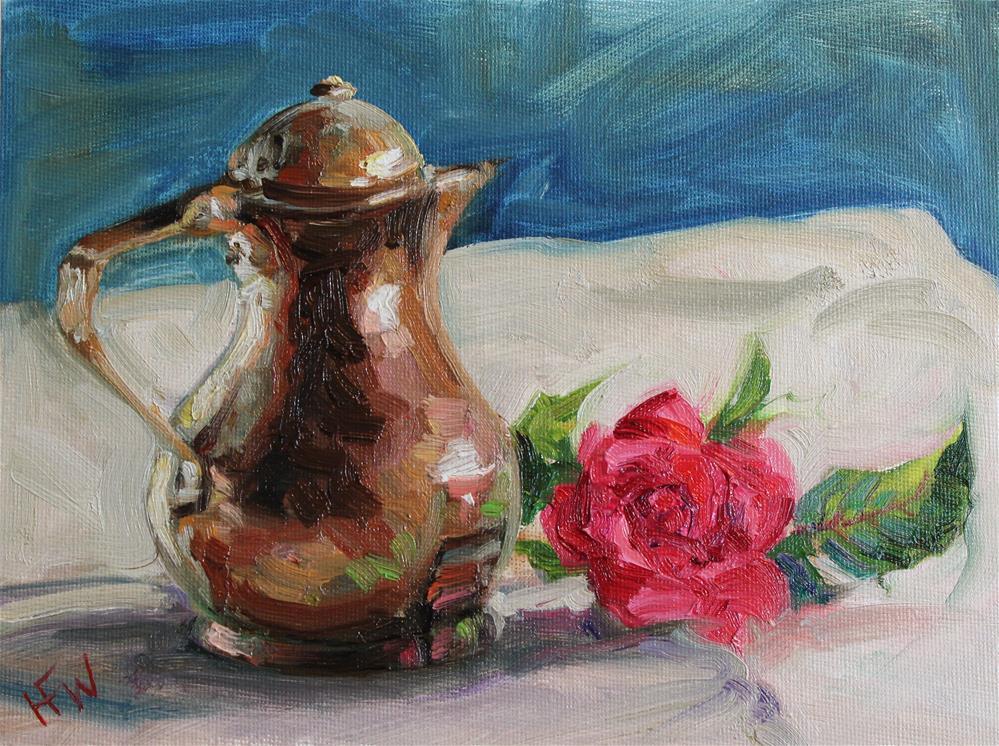 """Copper and Rose"" original fine art by H.F. Wallen"
