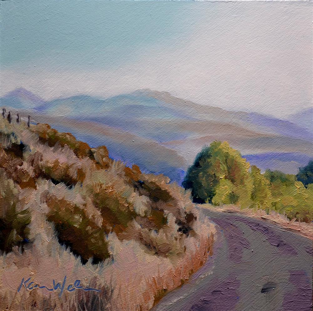"""""""East Fork, Big Woods Idaho"""" original fine art by Karen Weber"""