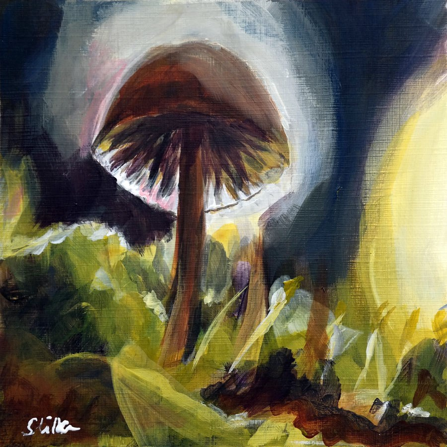 """1891 Mushroom Season"" original fine art by Dietmar Stiller"