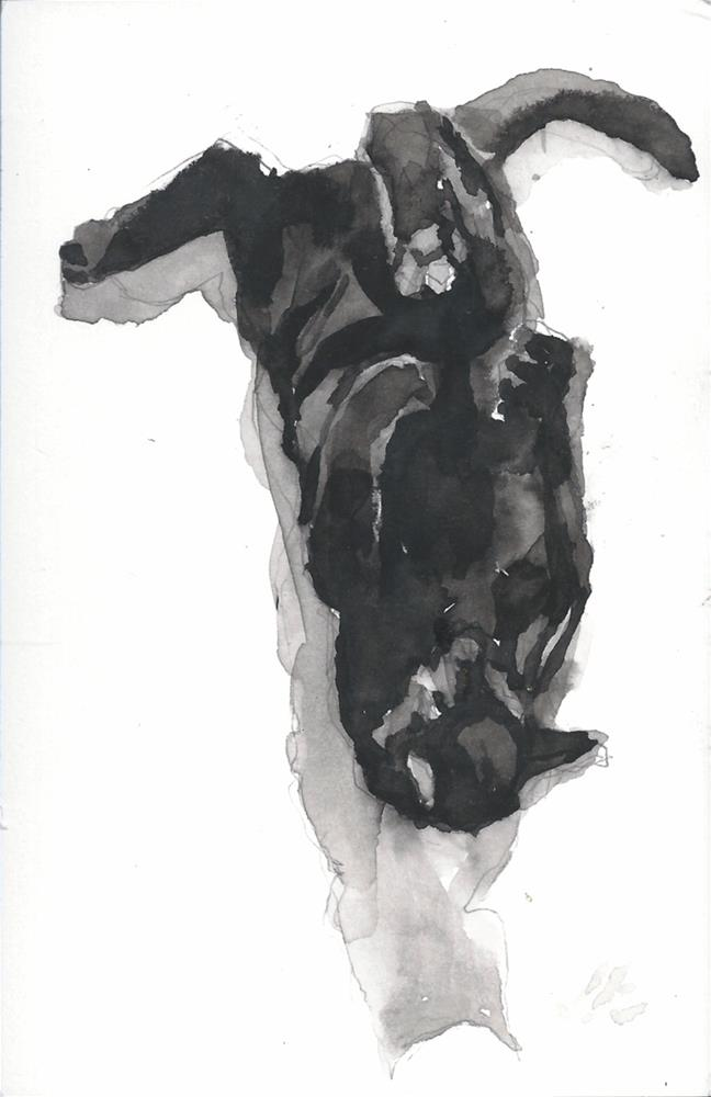 """Daily Cat 175"" original fine art by Jean Krueger"