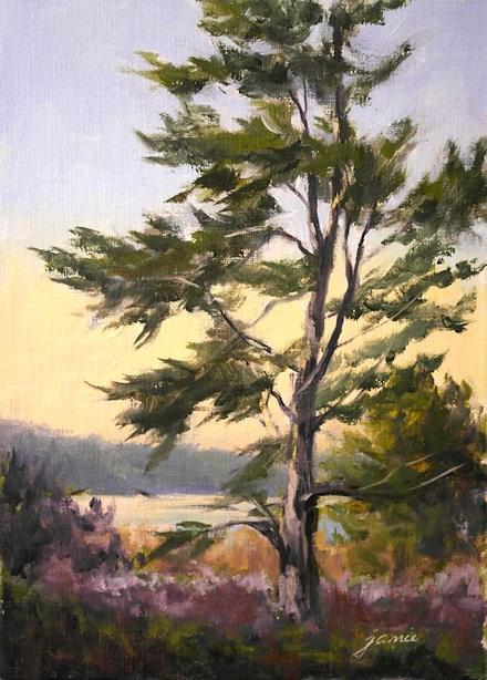 """Church's Tree for Cole House Benefit"" original fine art by Jamie Williams Grossman"