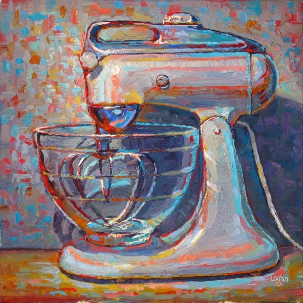 """KitchenAid Model 4-C Mixer"" original fine art by Raymond Logan"