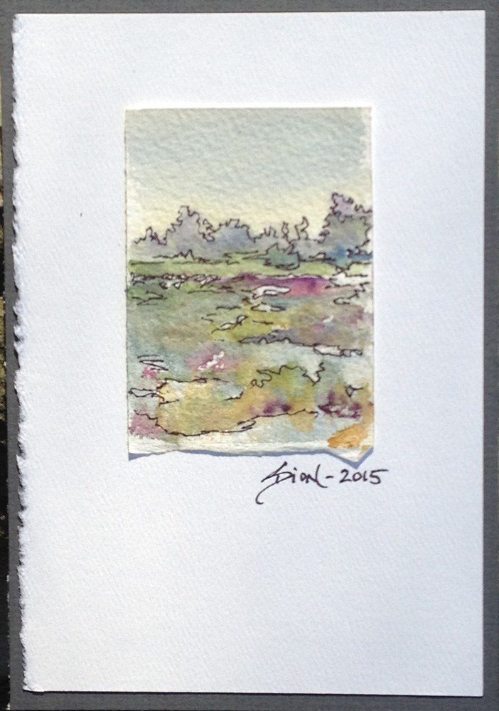 """Miniature Landscape #20"" original fine art by Sue Dion"
