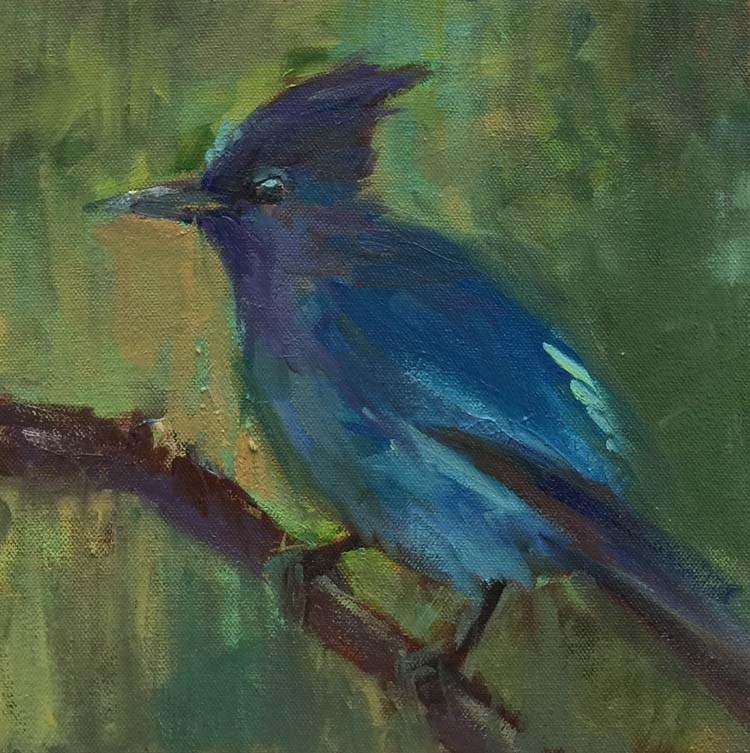 """""""Tree Branch Coffee Break"""" original fine art by Patti McNutt"""