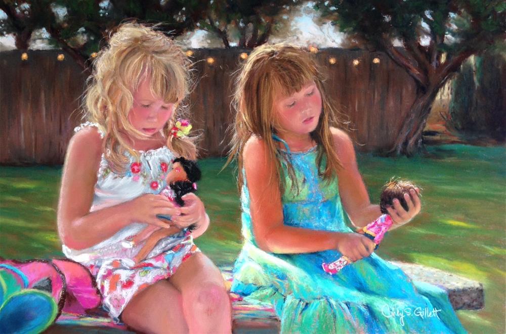 """Sisters"" original fine art by Cindy Gillett"