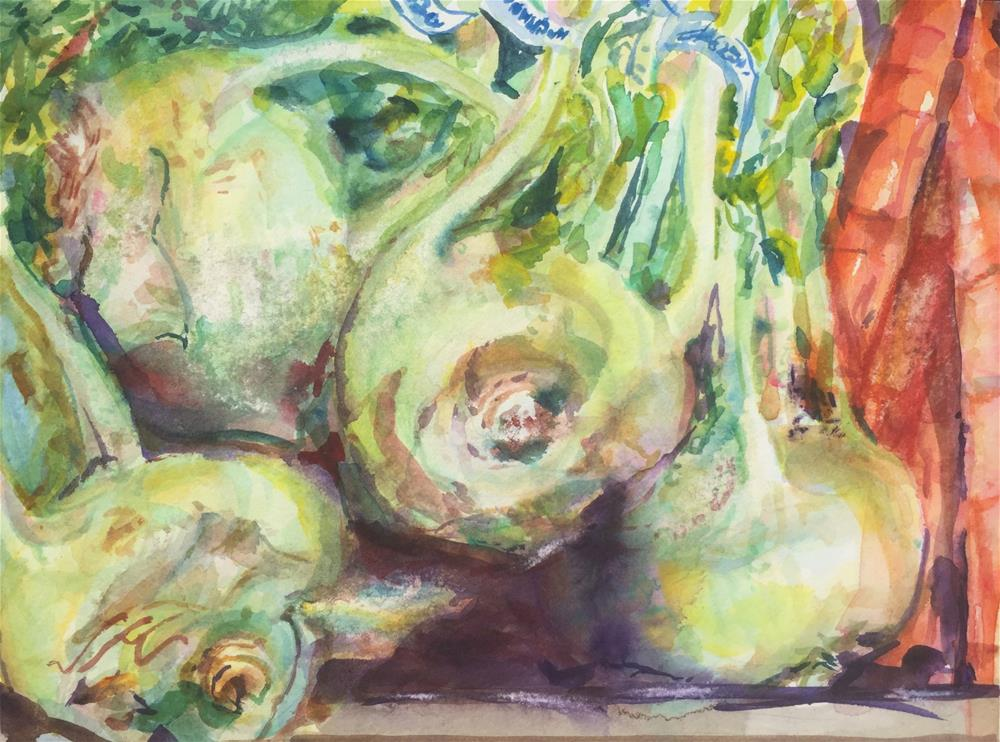 """Kohlrabi Again"" original fine art by Jean Krueger"