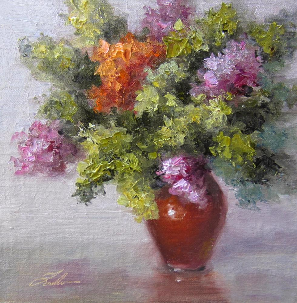 """Fall Hydrangeas"" original fine art by Pat Fiorello"
