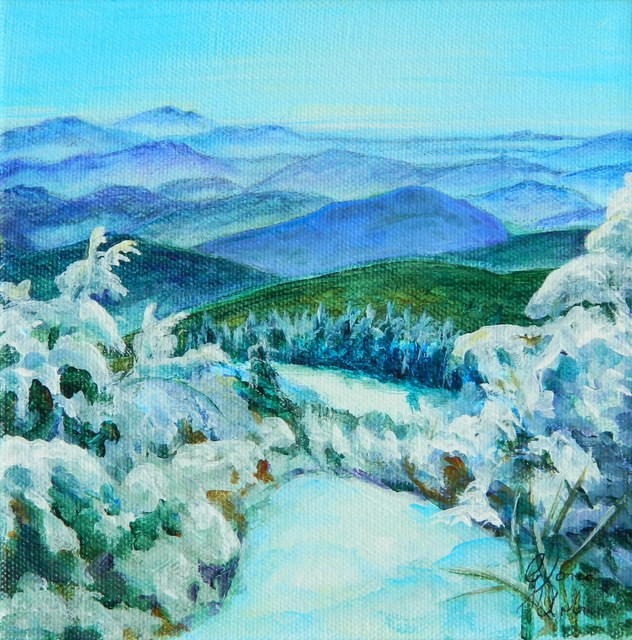"""Mountains of Vermont"" original fine art by Gloria Urban"