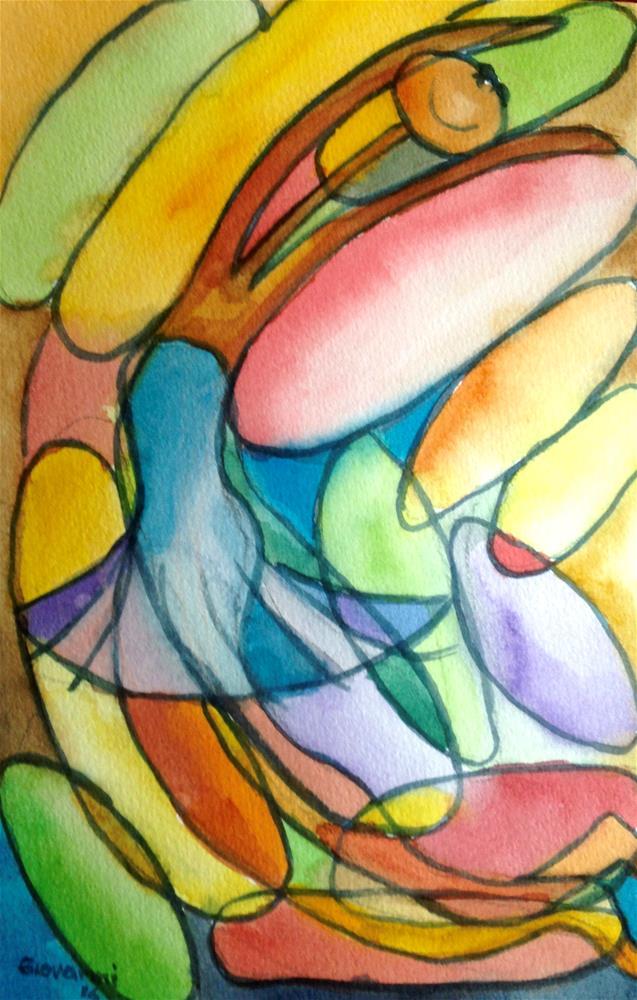 """Happy Ballerina"" original fine art by Giovanni Antunez"