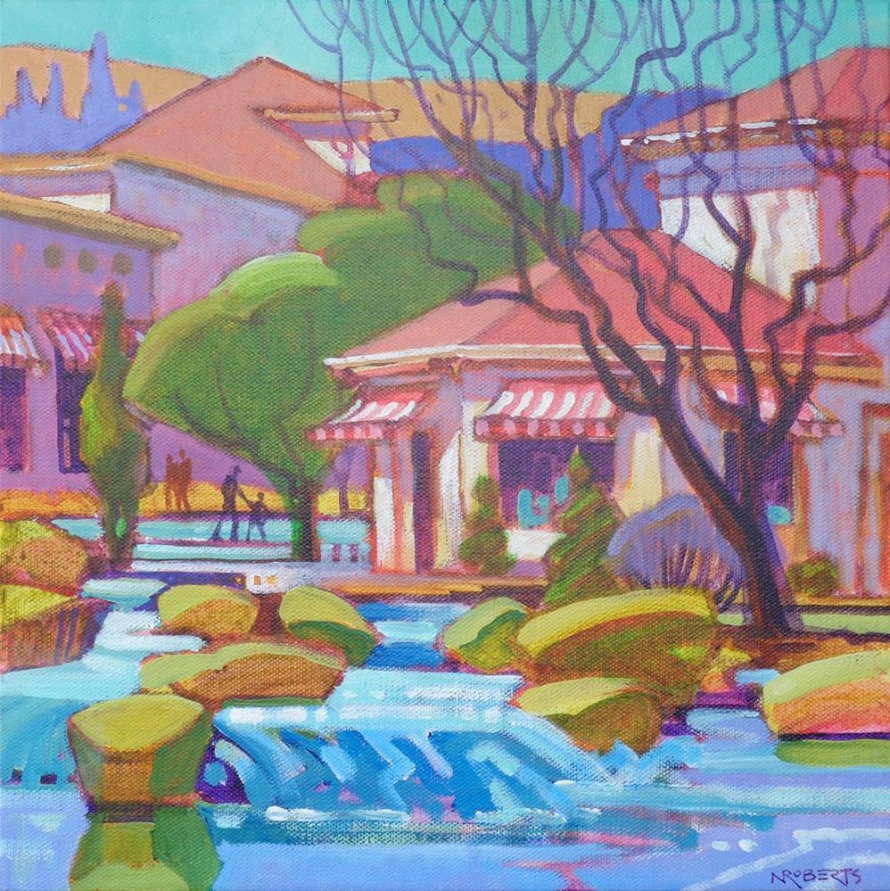 """Blackhawk Cascades"" original fine art by Nancy Roberts"