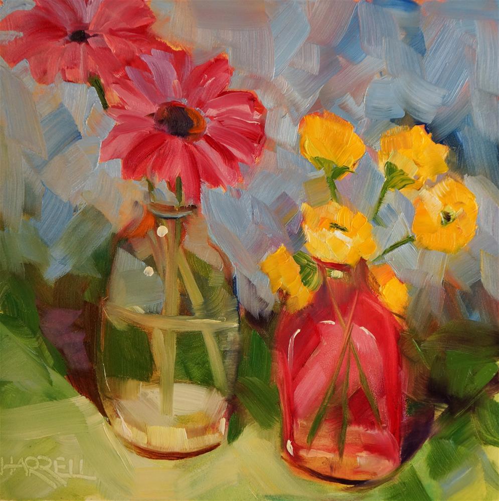 """Confidential Conversations"" original fine art by Sue Harrell"