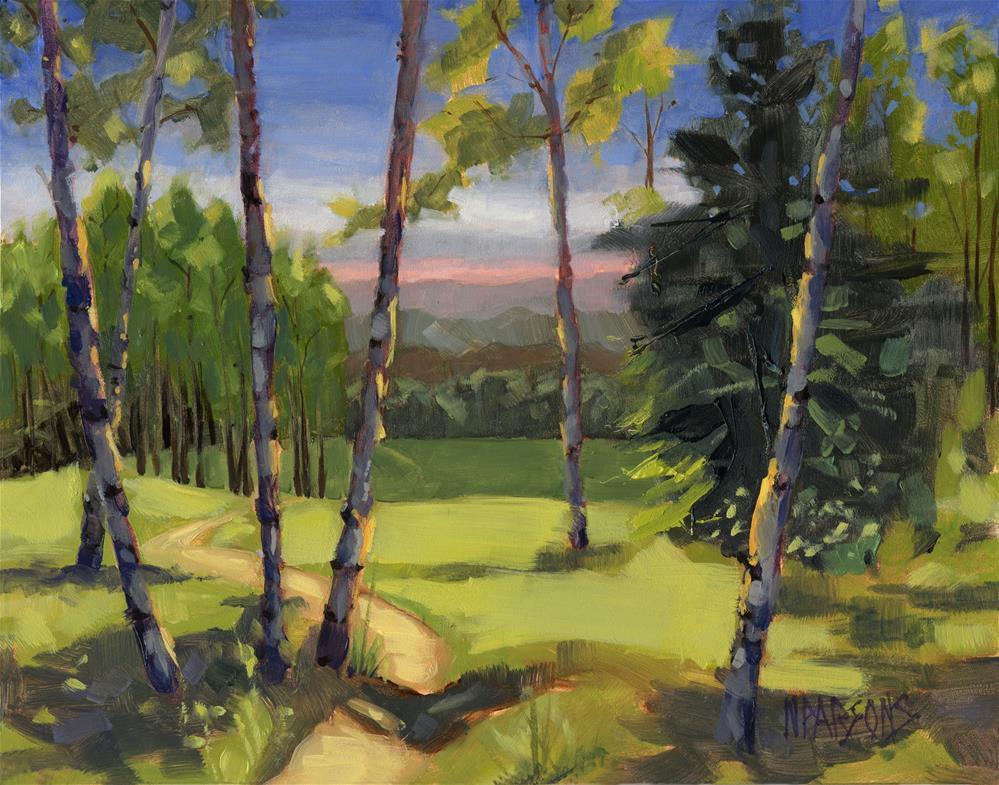 """SOLD Grass is Always Greener"" original fine art by Nancy Parsons"