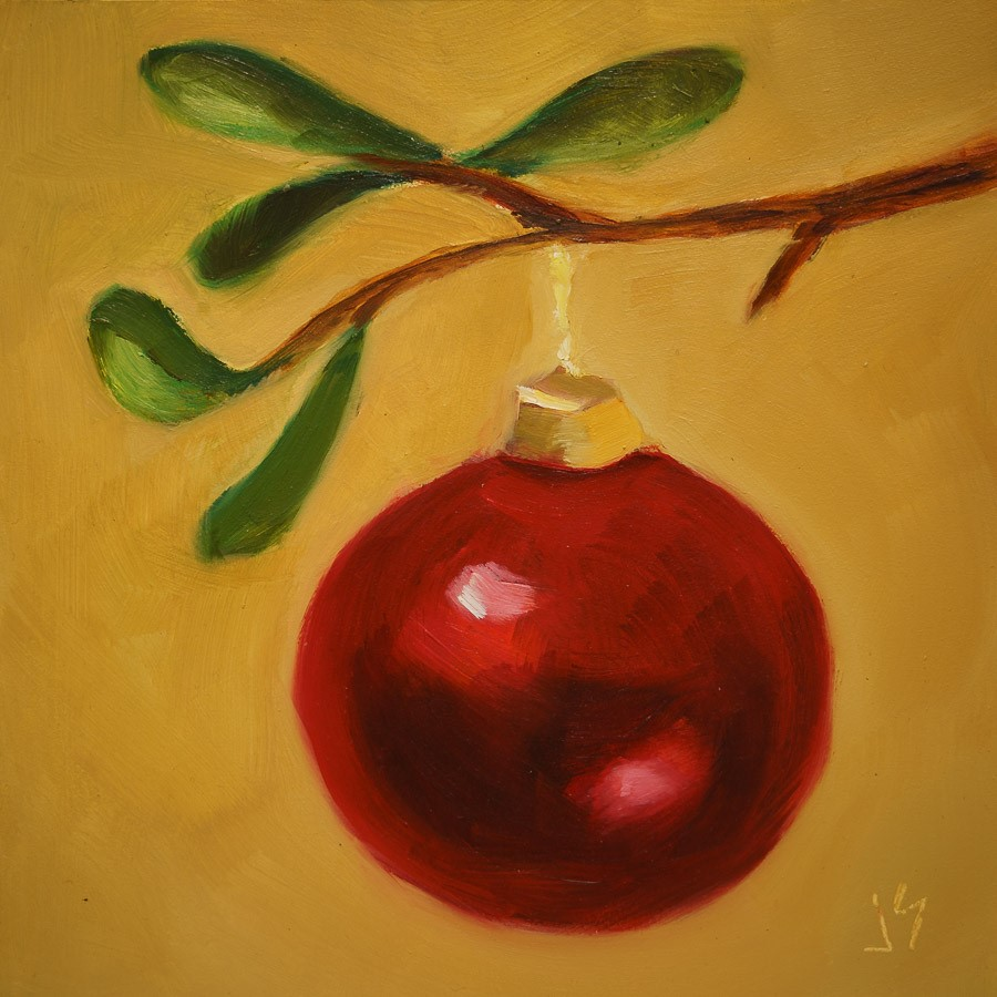 """Holiday Ruby"" original fine art by Johnna Schelling"