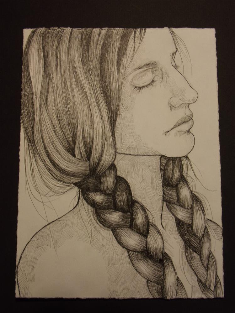 """Hair, No.2"" original fine art by wanda sigafus"