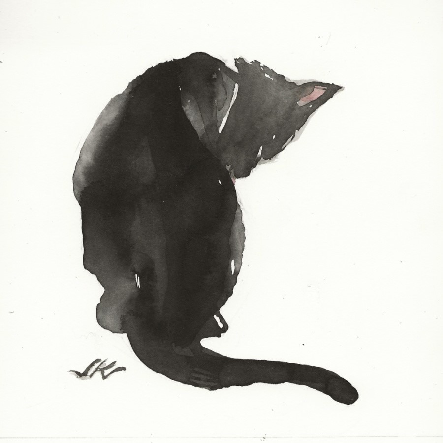 """Daily Cat 69"" original fine art by Jean Krueger"