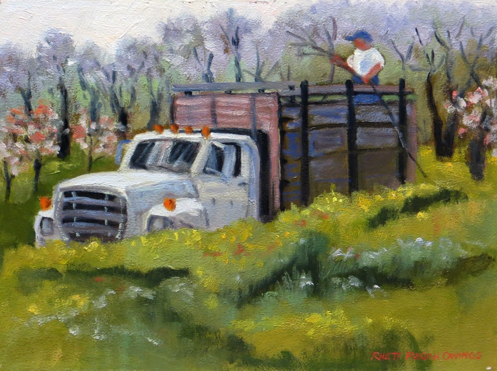 """Pruning Time"" original fine art by Rhett Regina Owings"