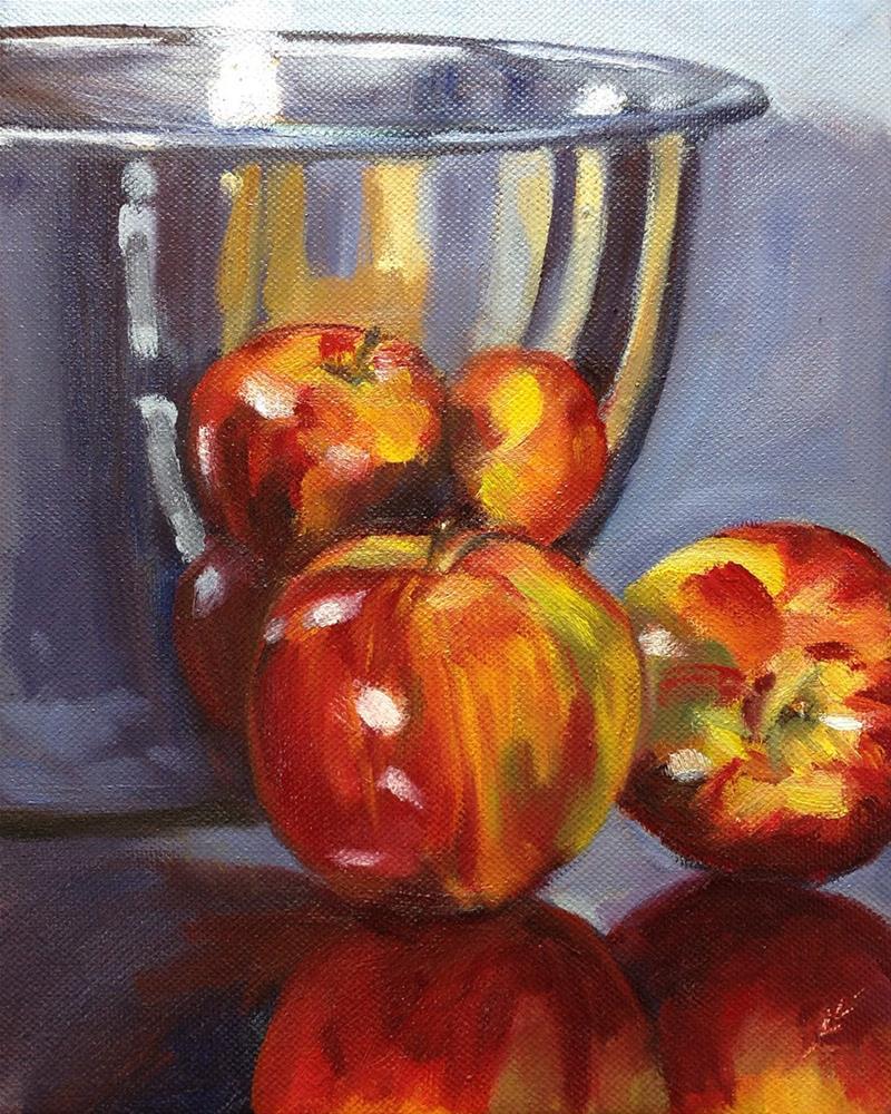 """Six Apples"" original fine art by Linda Lowery"