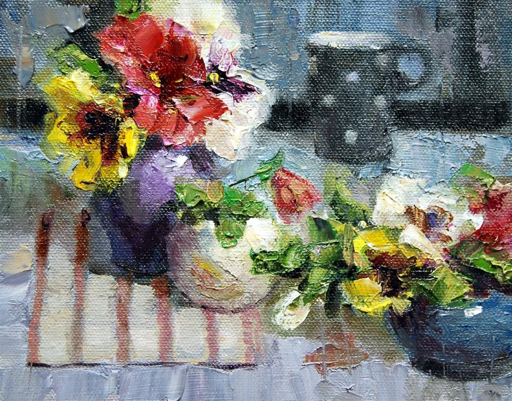 """Pansy Time #3"" original fine art by Julie Ford Oliver"