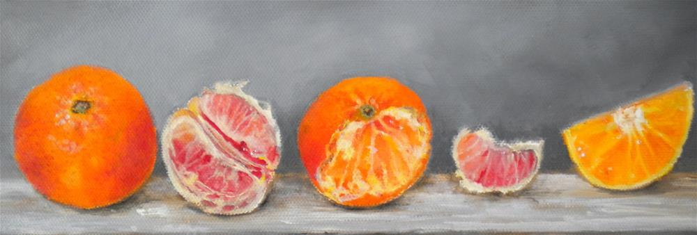 """""""Citrus"""" original fine art by Hilarie Johnson"""