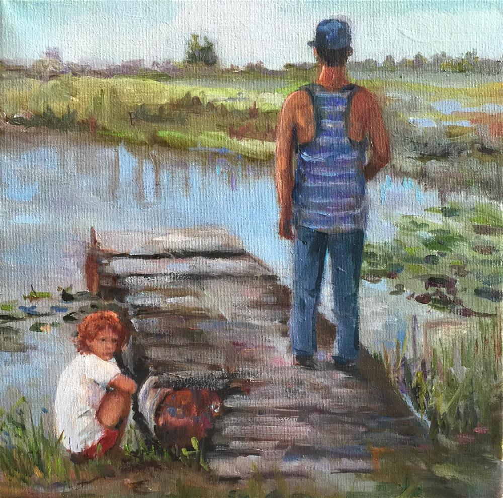 """The Dock"" original fine art by Linda Dunbar"