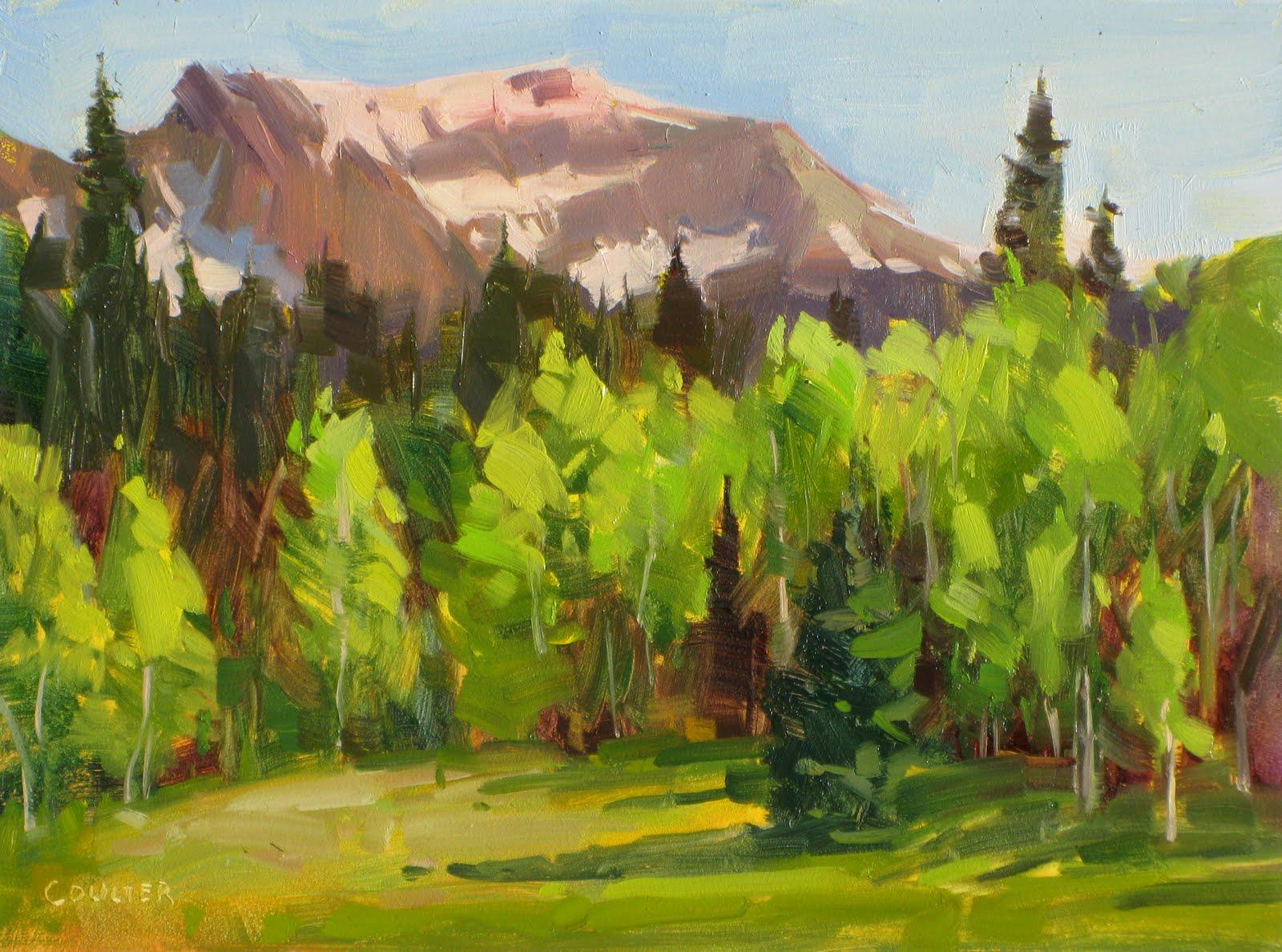 """MOUNTAIN SUMMER"" original fine art by James Coulter"