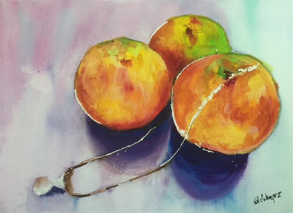 """""""Pearl and Oranges"""" original fine art by Juan Velasquez"""